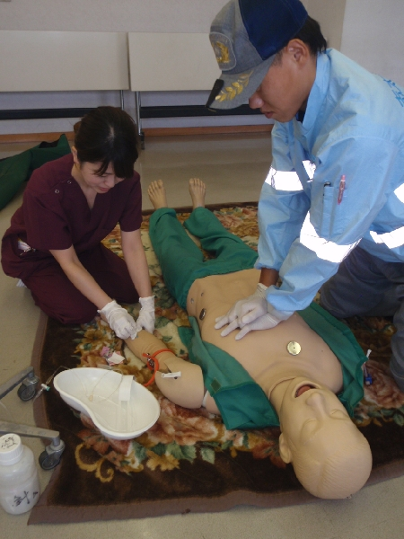 看護師救急車同乗実習2