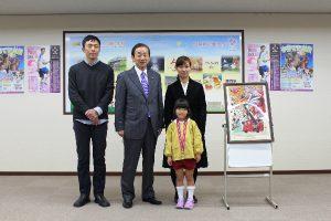 防火ポスター藤枝市長賞の表彰式2