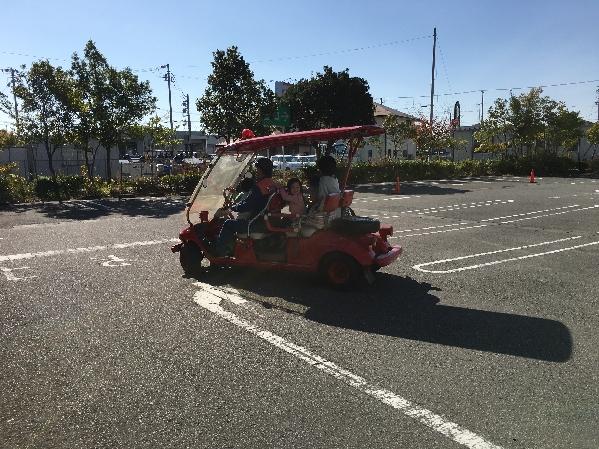 消防車放水体験2