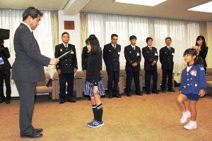 防火ポスター焼津市長賞の表彰式1