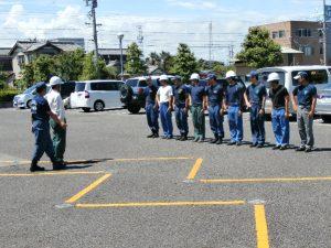 大井川分署訓練場での消防研修会1