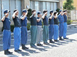 大井川分署訓練場での消防研修会2
