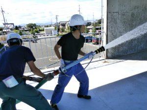 大井川分署訓練場での消防研修会4