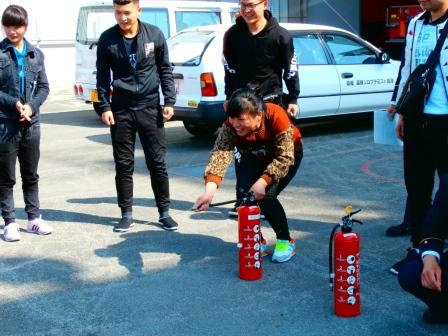 消火器取扱い訓練
