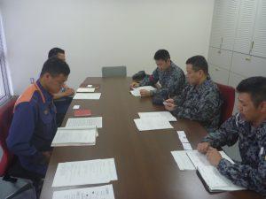 合同訓練に伴う事前会議