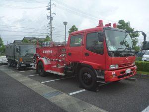 航空自衛隊静浜基地消防小隊来庁時の車両