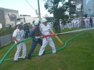 屋外消火栓取扱い訓練