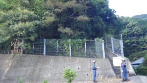 擁壁、フェンス等の確認