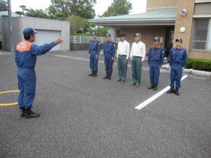 規律訓練 動作、呼称の確認