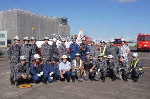 静浜基地消防小隊と大井川分署職員