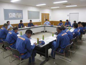 消防団への訓練説明