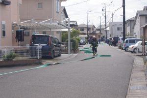 大井川分署隊はフル装備にて活動