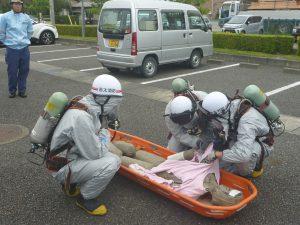 化学物質除染活動訓練1