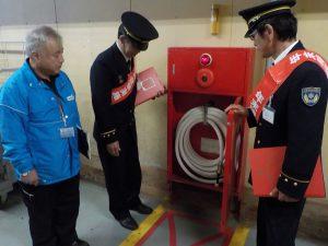 大井川グランリバーにおいて消防用設備の確認