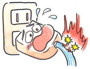 電気コードの損傷による出火