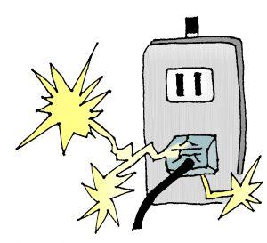 電気コンセント周りに溜まった埃からの出火(トラッキング現象)