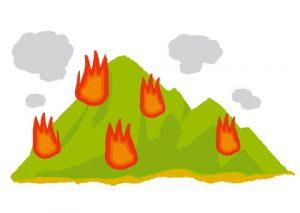 山火事のイメージイラスト